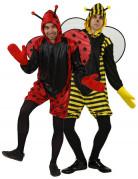 Disfraz de pareja de abeja y mariquita para hombres