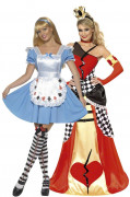 Queen of hearts and wonder princess costumes