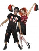 Disfraces de pareja de jugador de f�tbol americano y animadora zombies ideales para Halloween