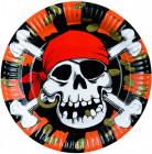 8 Assiettes Pirate