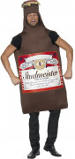 Beer bottle costume for man
