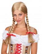 Perruque tress�e blonde femme