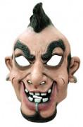 Masque caricature punk homme cr�te et piercing