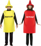 Ketchup and Mustard costume for adults