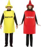 Disfraz de pareja ketchup y mostaza