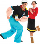 Popeye and olive oyl costume for couple