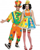 Clown costume for couple