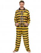 D�guisement prisonnier homme jaune