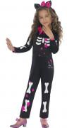 D�guisement Hello Kitty� squelette enfant pour fille