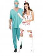 Disfraz de pareja enfermera y doctor