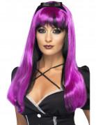Vous aimerez aussi : Perruque fuchsia et noire avec noeud noir femme
