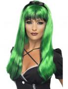 Peluca verde y negra