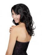 Perruque longue noire ondul�e femme