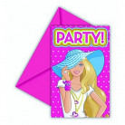6 cartes d'invitation Barbie Dollicious�