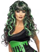 Peluca de sirena verde y negra