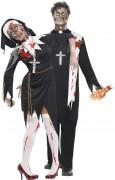 Disfraz de pareja religiosa zombie Halloween