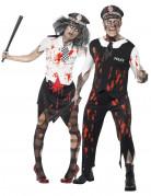 Disfraz de pareja de polic�as zombie