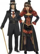 Disfraz de pareja de condes vampiros Halloween