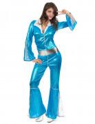 Ihnen gefällt sicherlich auch : Silber-blaues Disco-Kost�m f�r Damen