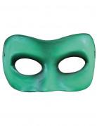 Demi-masque vert adulte
