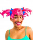 Vous aimerez aussi : Perruque manga en latex rose adulte femme