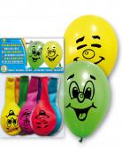 10 globos multicolores smile