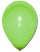 100 globos de color verde de 27 cm