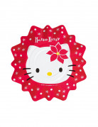8 Petites assiettes Hello kitty� No�l