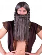 Perruque viking avec barbe adulte