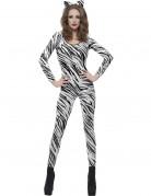 Zebra-Kost�m f�r Damen