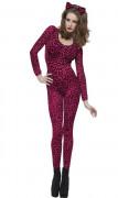 Leopardenkost�m f�r Frauen rosa
