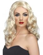 Perruque longue ondul�e blonde femme