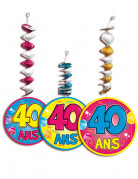3 D�corations � suspendre accord�on 40 ans