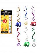 6 D�corations � suspendre spirale 40 ans