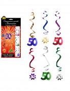 6 D�corations � suspendre spirale 50 ans