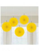 D�corations � suspendre rosaces jaunes
