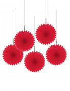 D�corations � suspendre rosaces rouges