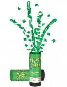 Ca��n con confetis verdes
