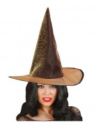 Chapeau sorci�re araign�e orange adulte Halloween