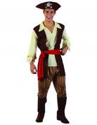 D�guisement pirate homme bandeau rouge