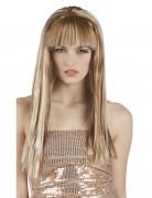 Perruque blonde mech�e femme