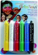 6 crayons r�tractables de maquillage Grim Tout sans parab�ne