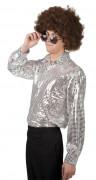 Chemise disco argent�e homme