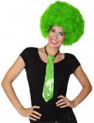Corbata con lentejuelas verde adulto