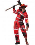 D�guisement sapeur-pompier zombie homme