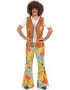 Pantalon floral hippie homme