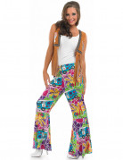 Pantal�n hippie estampado mujer