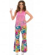 Top de flecos rosa hippie mujer