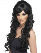 Vous aimerez aussi : Perruque glamour longue noire avec boucles femme