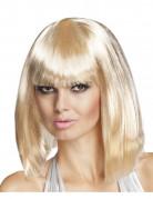 Perruque carr� mi-long blonde femme